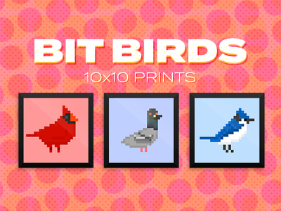 Bit Bird Prints