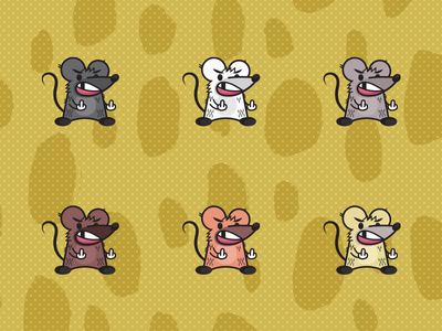 Rad Rat Series 01 booze rad rat print poster character illustration