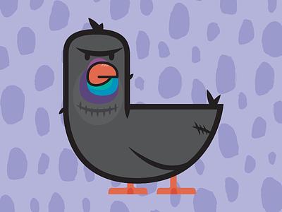Pissed Off Pigeon pissed off pigeon rad rat print poster character illustration