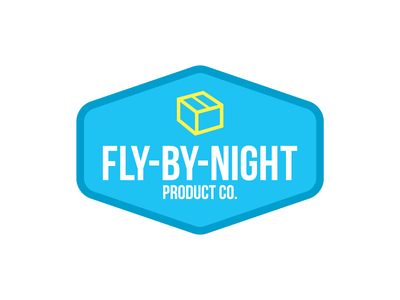 Fly-By-Night Product Co. Logo branding logo