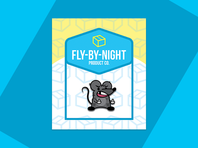 Fly-By-Night Product Co. Pin Packaging typography patterns packaging pins