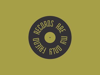 Music Pin #02 minimal records music lapel pins pins