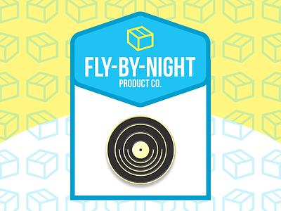 The Record Pin music vinyl records thin black gold minimal lapel pins pins