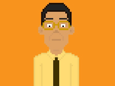"Gustavo ""Gus"" Fring pixel art breaking bad gus fring"