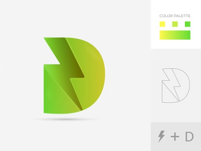 D + Electric Bolt brand and identity branding designer electric bolt d logo corporate visual identity gradient ecommerce 3d abstract brand identity design branding marketing logo tech logo creative smart logo digital agency business logo startup