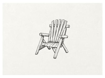 Adirondack chair old vintage logo farm drawn adirondack chair