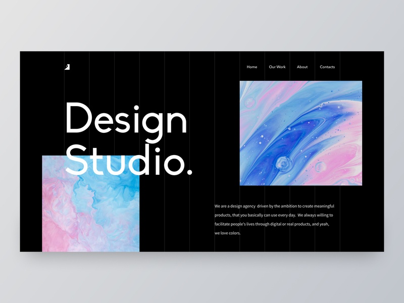 Design Studio - Header Exploration concept grid figma web design website dark mode landing page web ux ui colorful header layout minimalism minimal clean