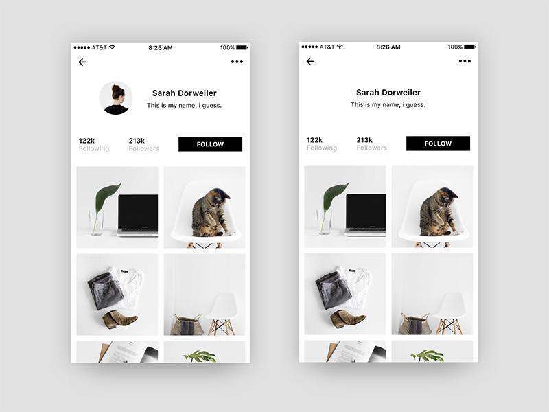 User Profile | Free .Sketch #5 user freebie profile minimal app minimalism clean ux ui sketch ressource dailyui