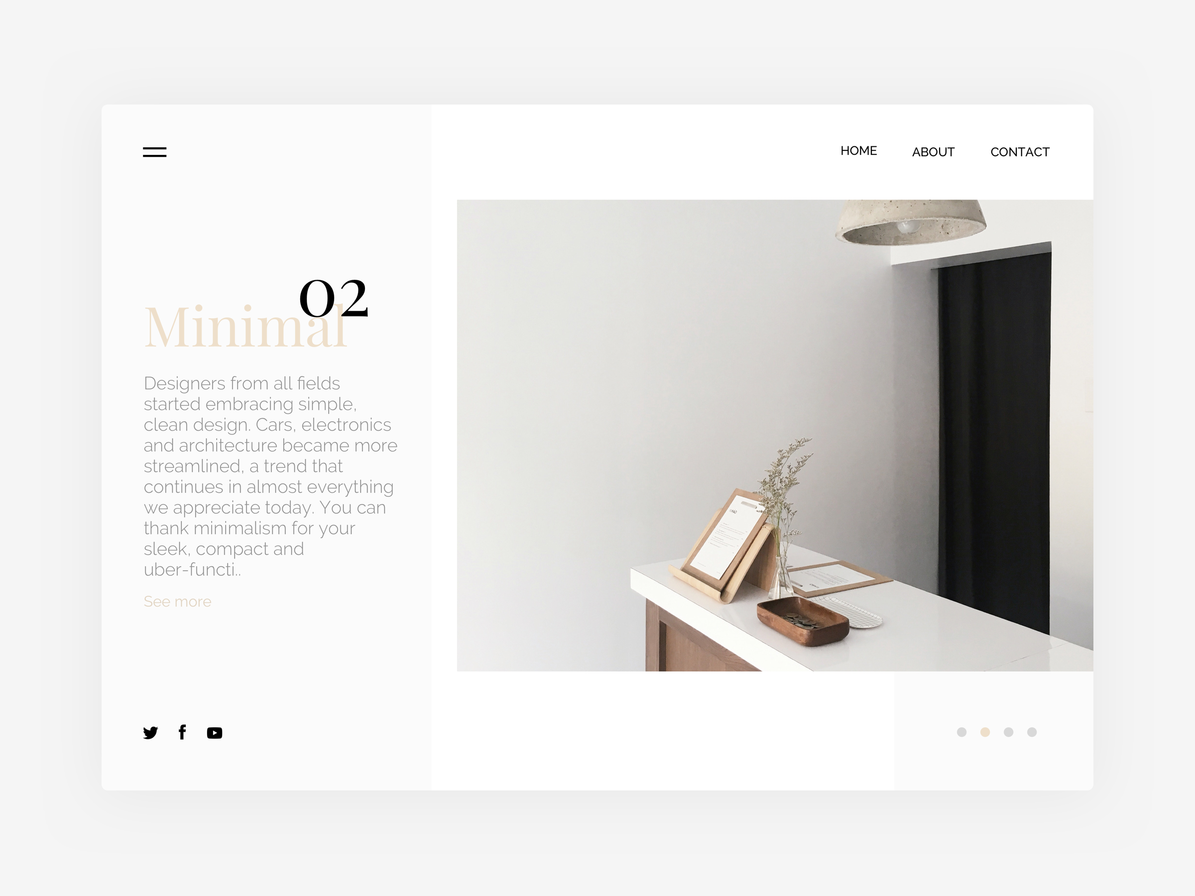 Minimalist website 02 test bigger yalessandri