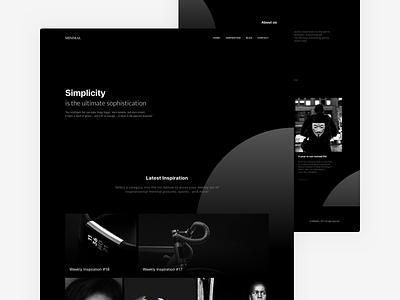 Minimal - Black & White Website | Free .Sketch #7 layout homepage black freebie landing page minimal minimalism clean ui sketch web dailyui