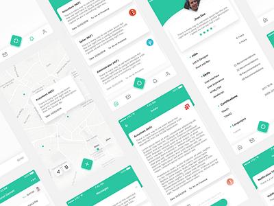 GoJob - App Redesign dailyui user profile concept ios minimalist minimal green app ux ui clean