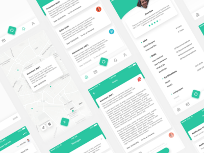 GoJob - App Redesign dailyui user profile concept ios minimalist minimal green app ux ui clean