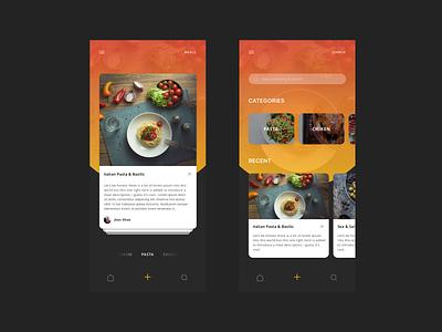 Meals - Food App Concept meals delivery logo ios orange blue animation typography illustration user landing page layout dailyui ressource minimalism freebie ux minimal clean ui