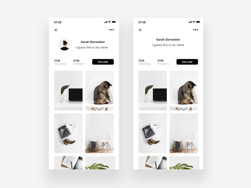 User Profile - Redesign illustration typography concept landing page ui ux unsplash layout app concept photo user dailyui 001 ressource framer profile minimalism minimal dailyui clean app