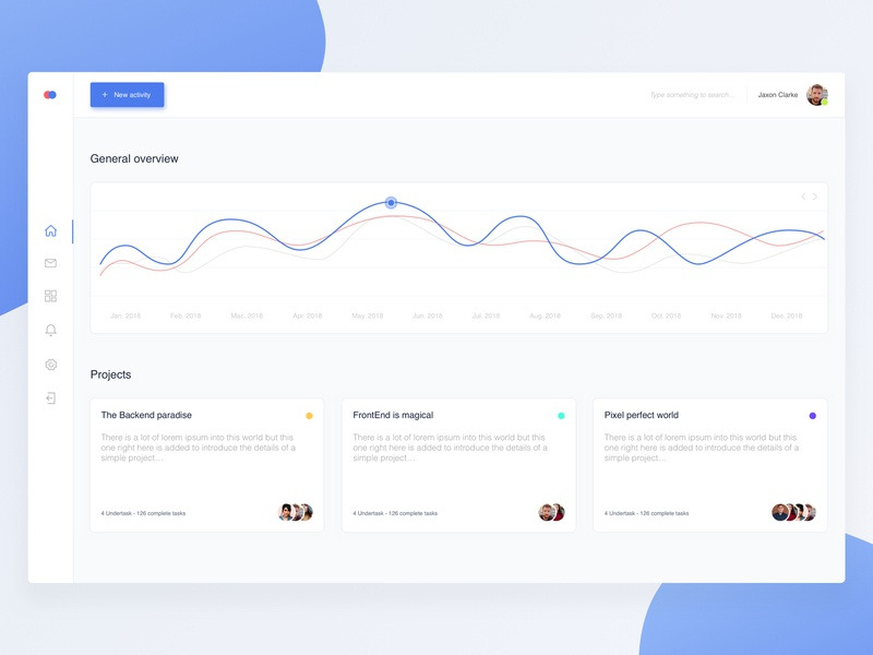Simple Dashboard onbording stats statistics graph vector illustration concept white typography dashboard ui app blue sketch layout dailyui minimalism ux minimal clean ui