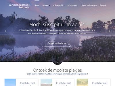 Landschapsfonds interface clean colors dutch ui photography web design