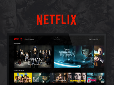 Netflix Exploration movies tv interface entertainment media netflix