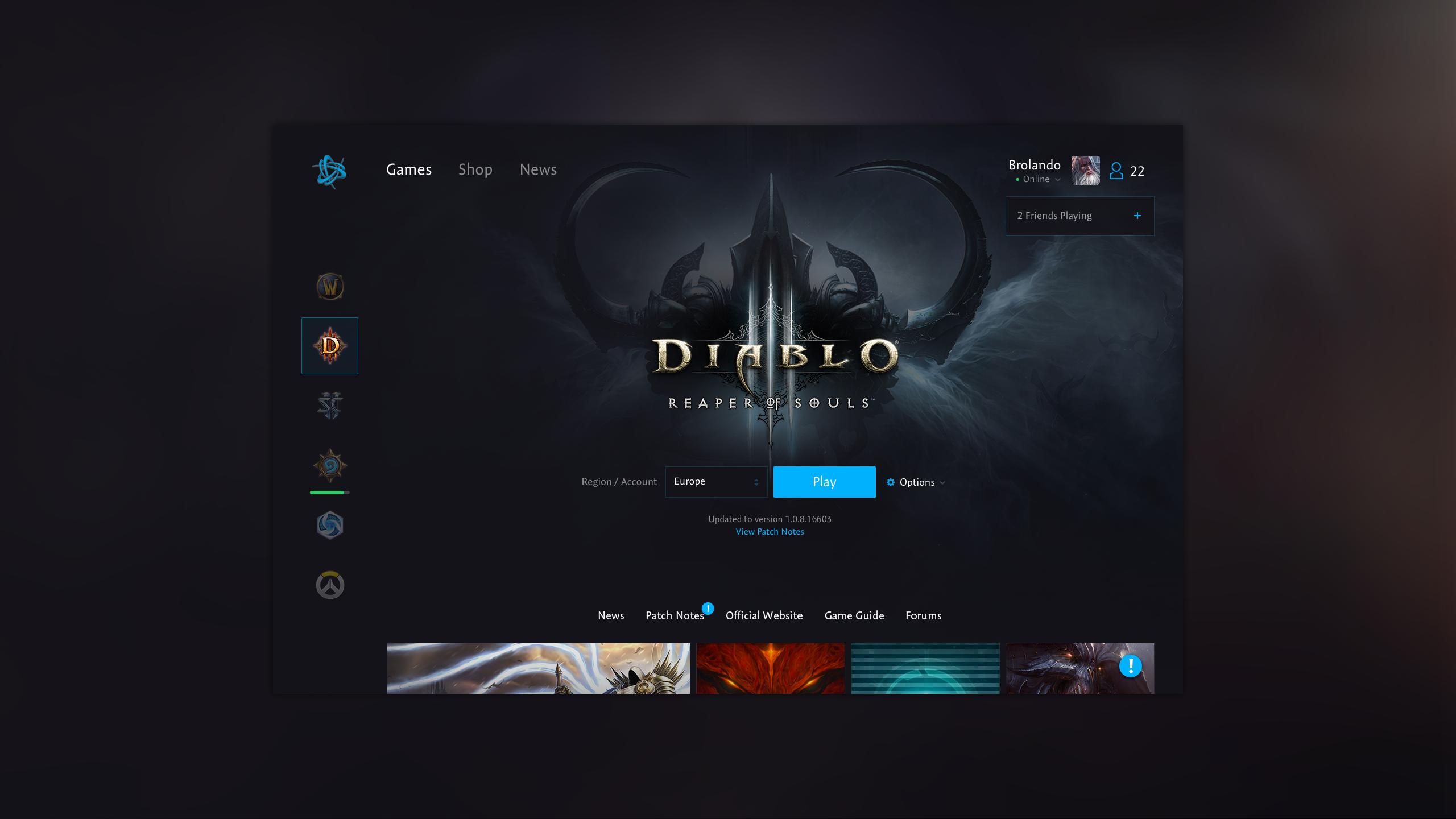 Dribbble Battlenet Diablo Apppng By Bart Ebbekink