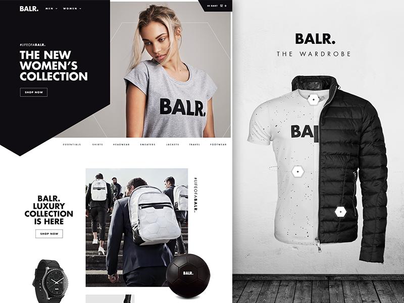 Balr luxury products web design shop home e-commerce webshop balr