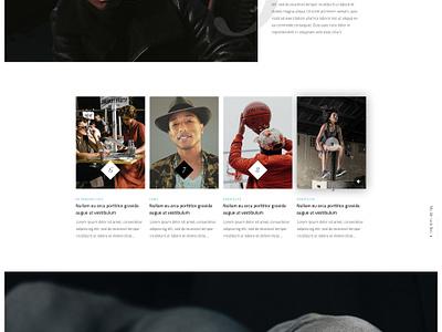 Magazine Design timeline articles blog home numbers images white black magazine