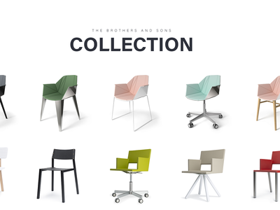 Brothers and Sons typography clean white design web landing photography product furniture