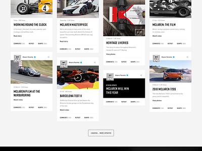Drivetribe Page car drivetribe cars landing dark social network photography typography cards
