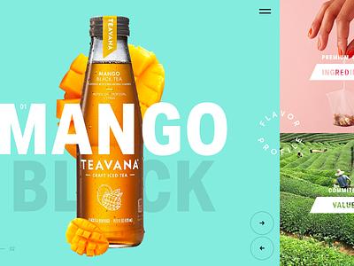 Teavana promotion marketing clean landing tea colorful typography product design