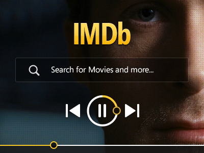 IMDb Concept imdb concept flat clean ui redesign dark movies web design tv shows search