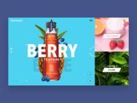 Teavana product interface ui typography web photography clean landing design