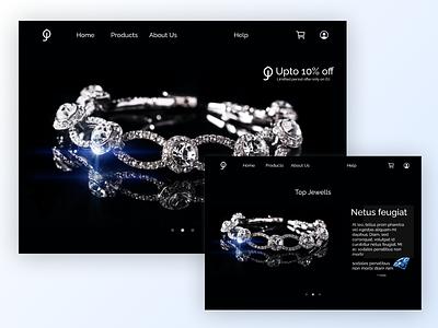 Jewellery website design website design webdesign desktop visual design ui ux website design figma userinterface