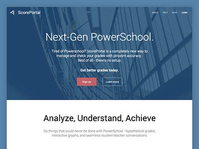 ScorePortal - My First Project student design scoreportal education website ux ui