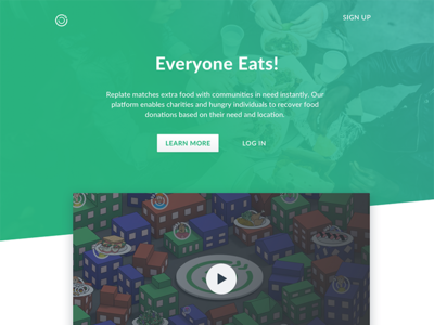 Replate Homepage homepage marketing page replate nonprofit design ui
