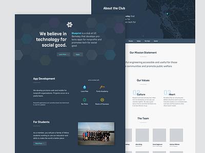 Blueprint Website Redesign splash web technology redesign website