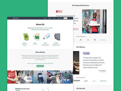 Replate Website Redesign web replate web design homepage design ui splash redesign website