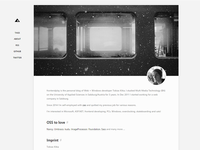 blog - about page