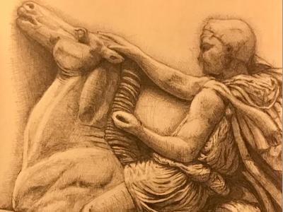 Parthenon frieze - block X