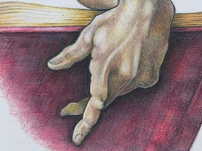 The Right Hand of the Prophet Daniel from the Sistine Chapel