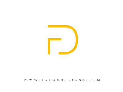 Fd Logo ©fahaddesigns typo fd ux specialist ui ux designer personal portfolio fahaddesigns logo design