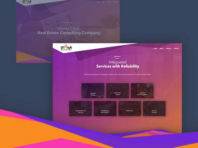 Service Listing Screen responsive website fahaddesigns fd ux ui trading manpower consulting marketing realestate