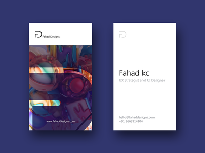 My Business Card fd ux fahad kc ui fahaddesigns business card visiting card