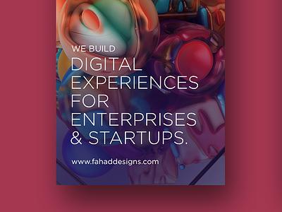 Branding for Digital Business app web mobile userexperience enterprises startups branding ux ui digital fahaddesigns fd