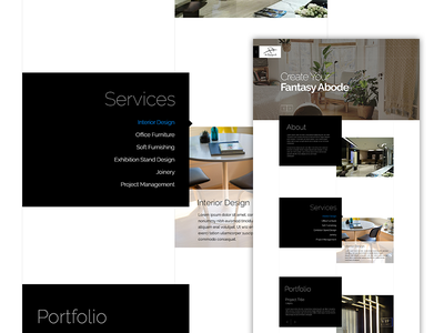 Art Decoration - Website Design interaction parallax landing fahaddesigns fd ux ui artdecoration dubai architect interiordesign websitedesign