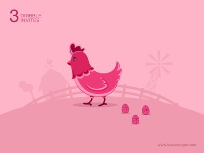 3x Dribbble Invites Giveaway shot concept 3invites fahaddesigns invite chicken egg dribbble invitation dribbbleinvite giveaway draft