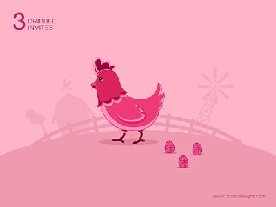 3x Dribbble Invites Giveaway shot concept 3invites fahaddesigns invite chicken egg dribbble invitation dribbbleinvite giveaway draft