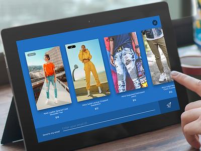 Brand Promotional Tablet App ecommerce tabletdesigns tablet advertisment ads promotional brand ux ui fahaddesigns ipad