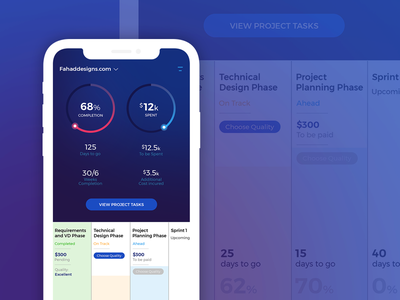 Project Planning & Tracking App dashboad mobileappdesign app dashboard companyproject projectmanagement ui ux tracking project projecttrackingapp mobileapp marketingapp iphonex iphone10 fahaddesigns app