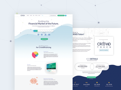 Website Landing Page - Crowd Investing Platform fahaddesigns visualdesign uiux crowd token crowd network blockchain technology crowdfinancing tokenized equity offerings initialcoinoffering investment crowdinvesting crowdtoken financial advisor financial websitedesign landingpage landingpagedesign cryptocoin crypto currency ico