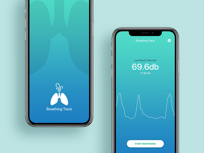Breath App healthcare fd minimal design minimal app medical care digital health patient experience monitoring monitoring app health app design medical app design medical ui ux medical app breath detected breath app health app healthcare app uiux fahaddesigns