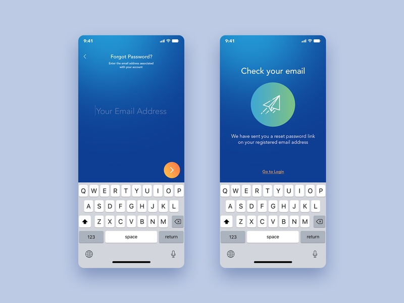 Forgot Password - Color Variation 2 vector app android ios healthcare fd login field form email forgot password uiux ui ux fahaddesigns