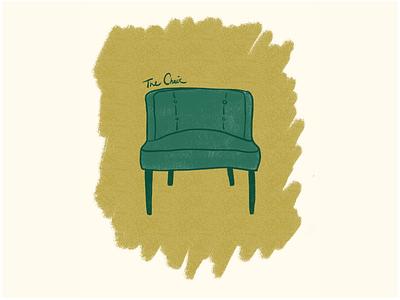 Mid-Century Modern Chair ipad drawing yellow green patterns mid century modern illustrator procreate illustration vector typography design visual design graphic design